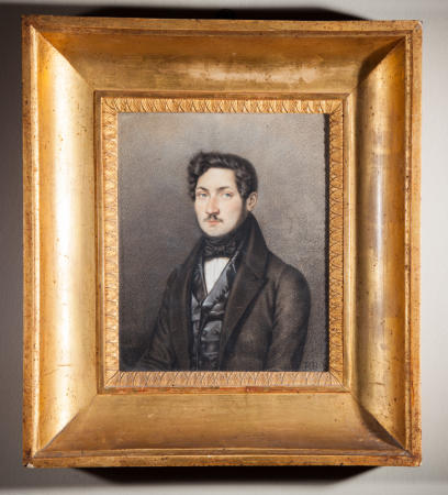 19Th Century pastel drawing in gilt frame