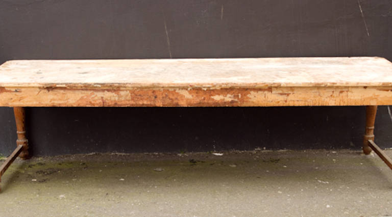 Large distressed table