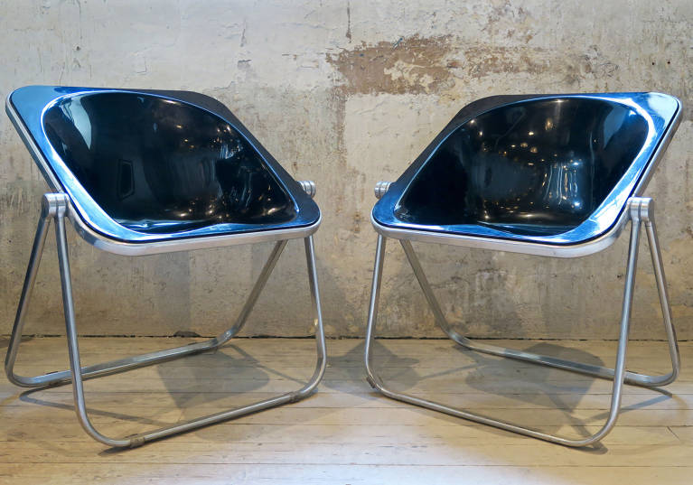 Pair chairs, circa 1960