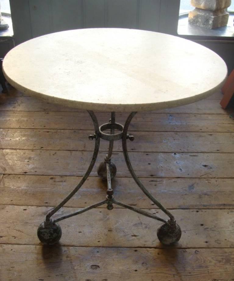Circular marble table