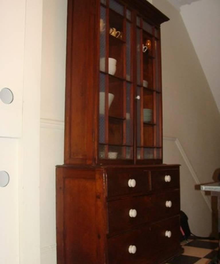 Glazed cornish cupboard