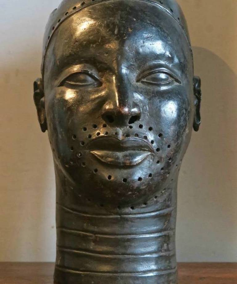 Bronze African mask