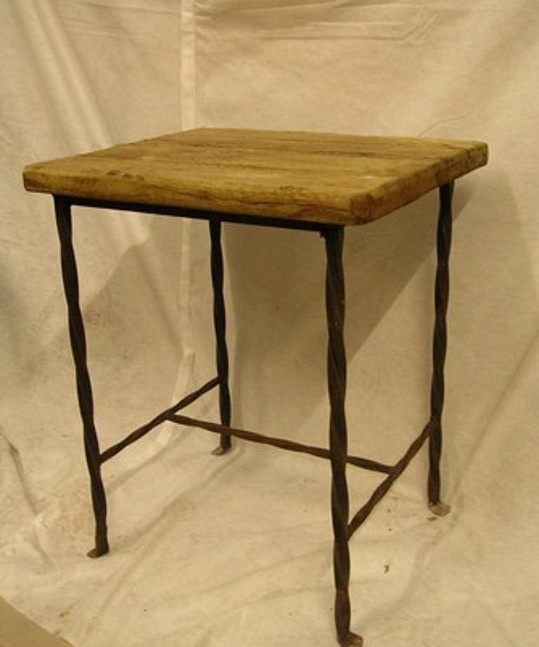 Pair 1950`s rustic tables