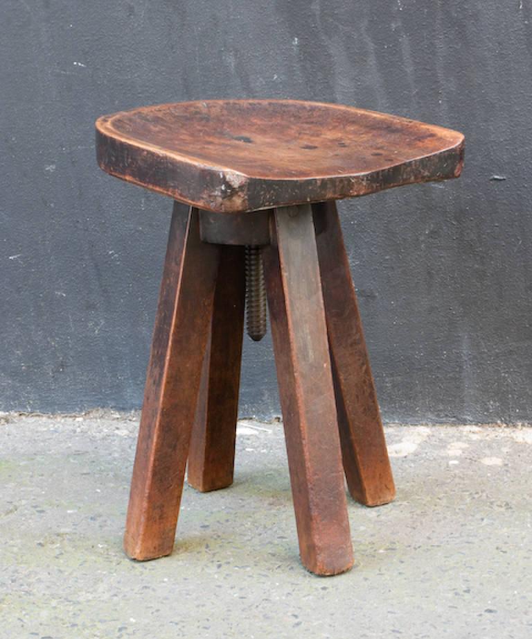 Adjustable swivel stool