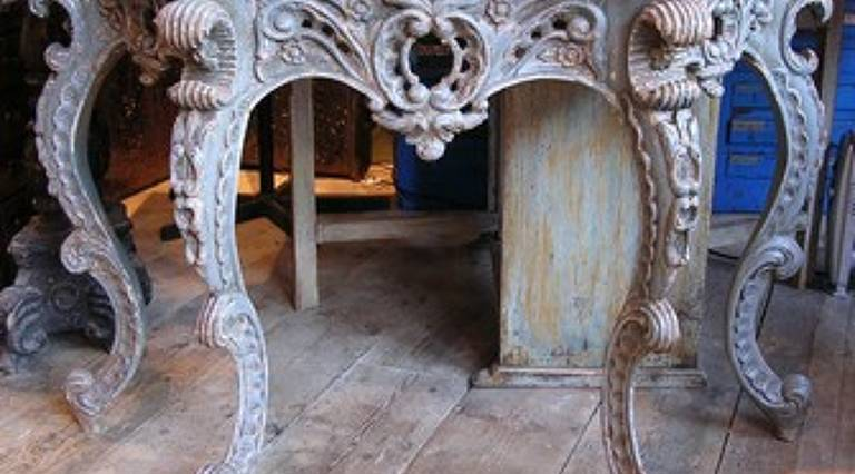 19c carved italian console
