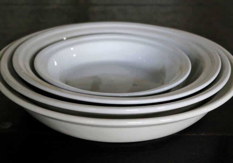 White ceramic tableware