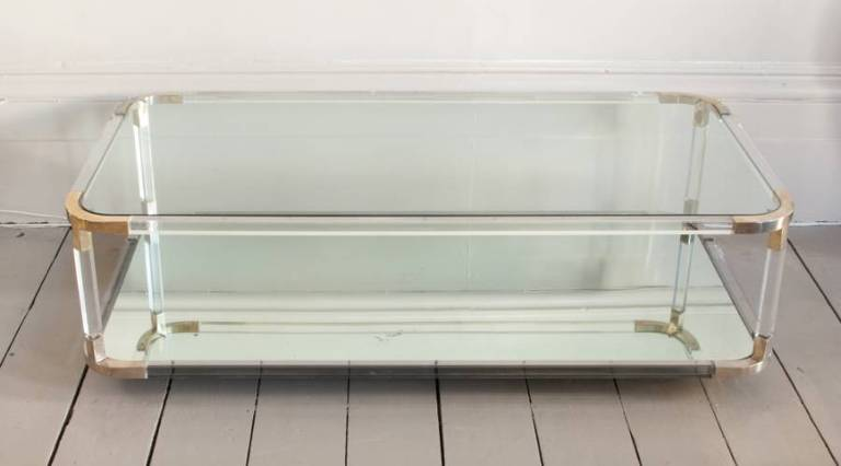 Perspex mirrored coffee table