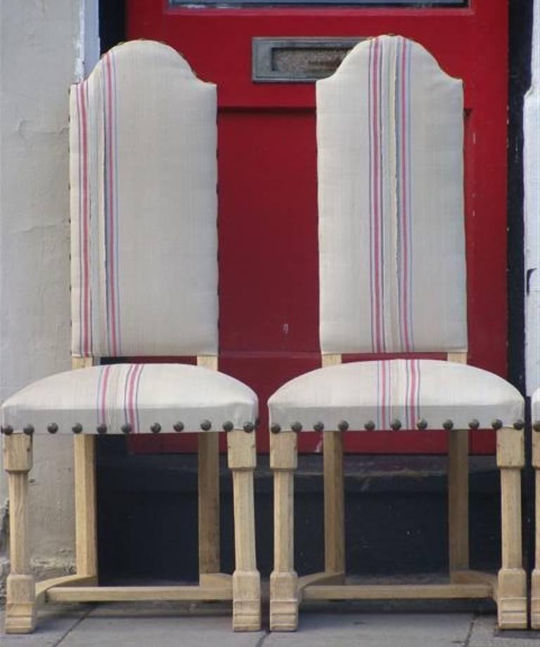 8 bleached oak chairs