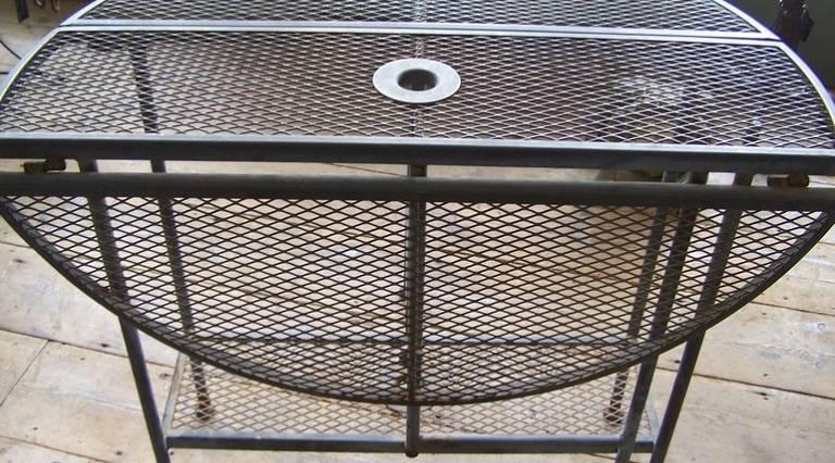 Industrial gateleg table