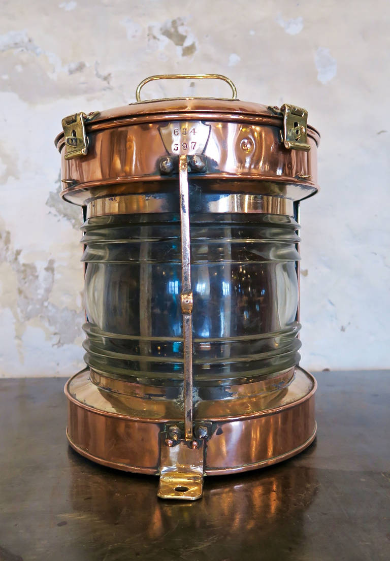 Large copper lamp