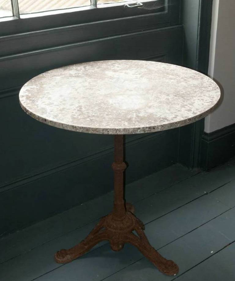 Marble topped garden table