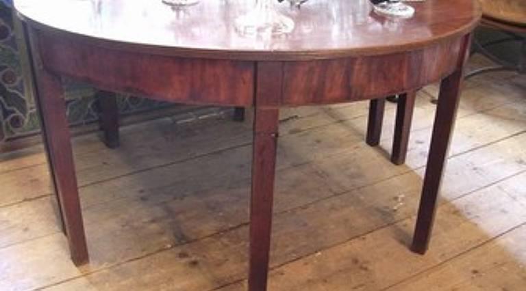 Pair demi-lune tables