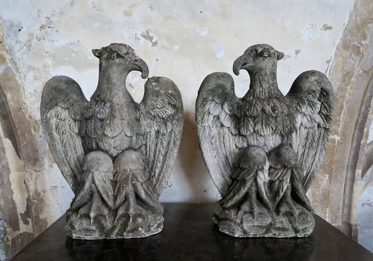 Pair Stone Eagles