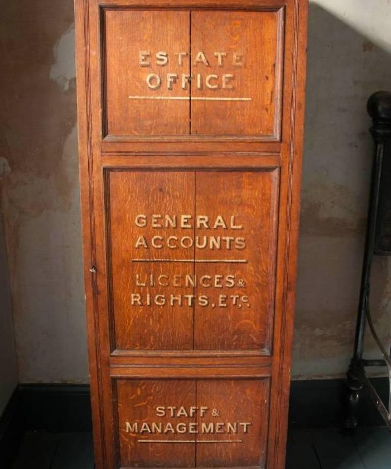 Estate cabinet