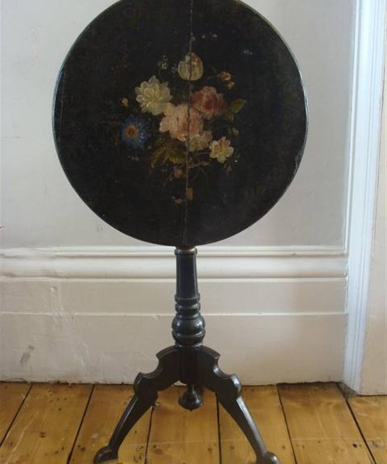 Victorian painted folding table