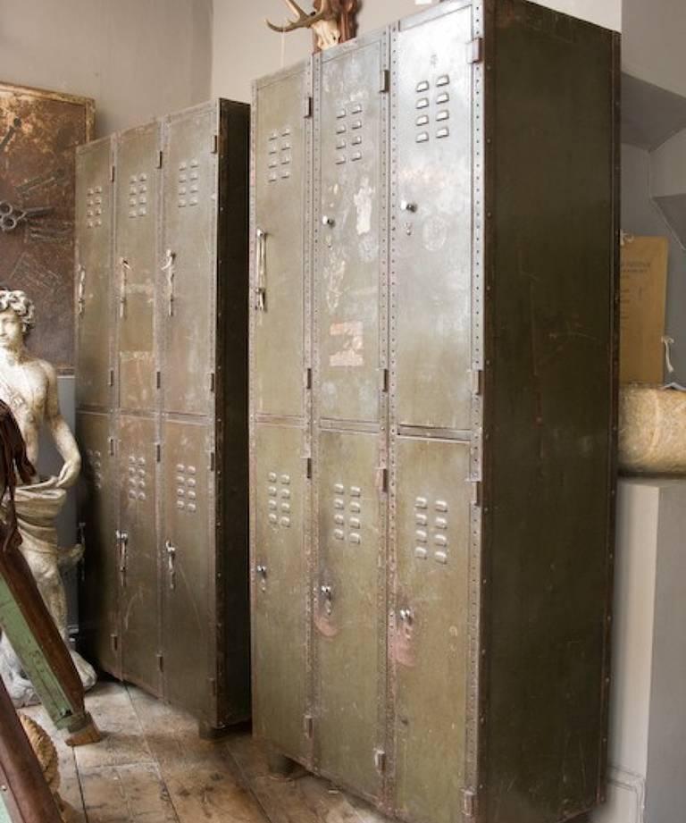 Pair of Industrial lockers