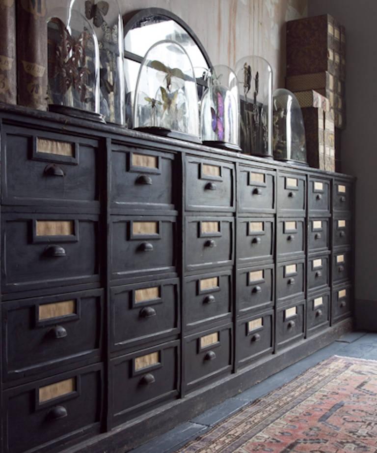 Italian black drawers