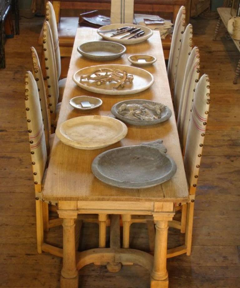 Oak refectory table