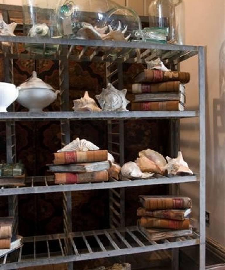 Pair industrial shelves