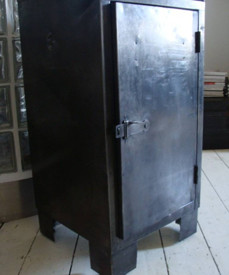 Pair industrial cabinets