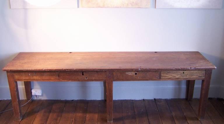 Boys school laboratory desk