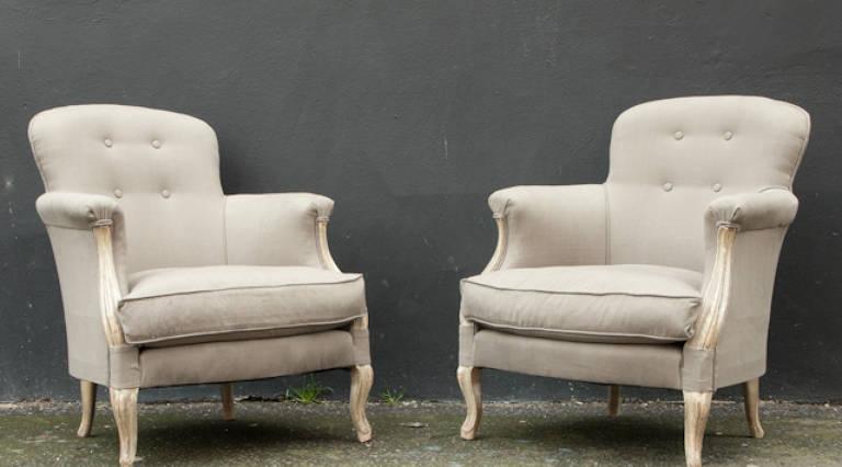 Pair 19thC armchairs