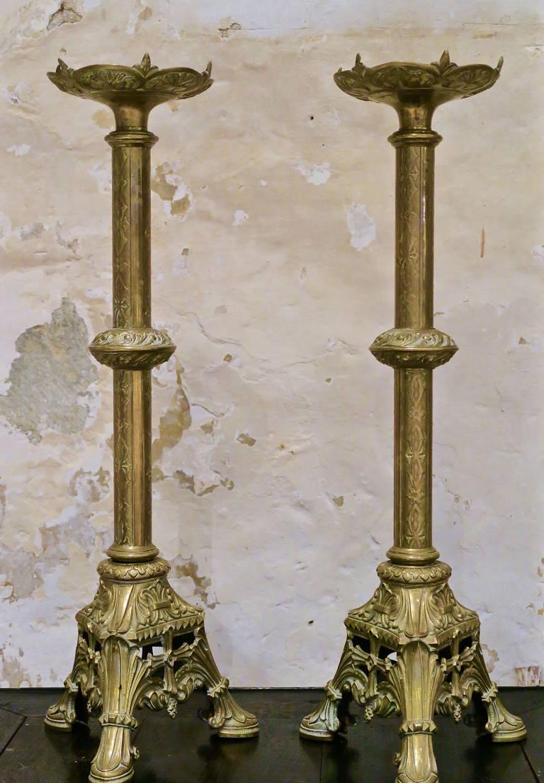 Pair Church Candlesticks