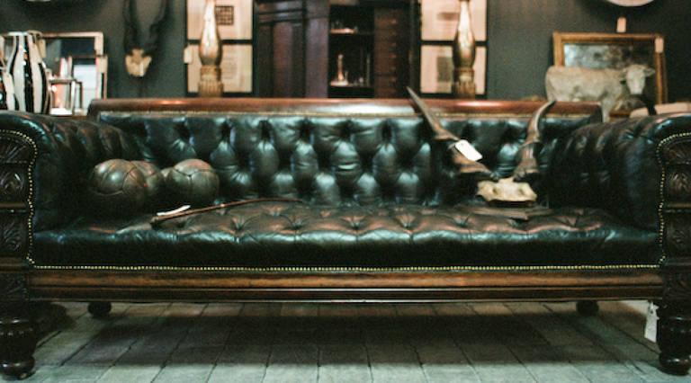 William 4th leather sofa