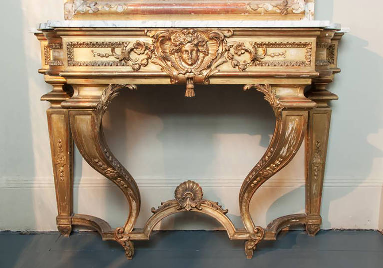 19th Century French Gilt Console