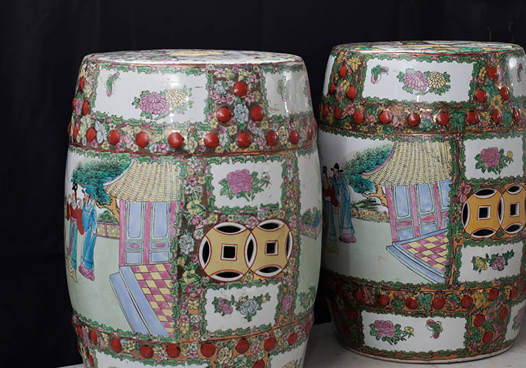 Chinoiserie Stools