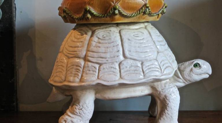 Ceramic turtle stool
