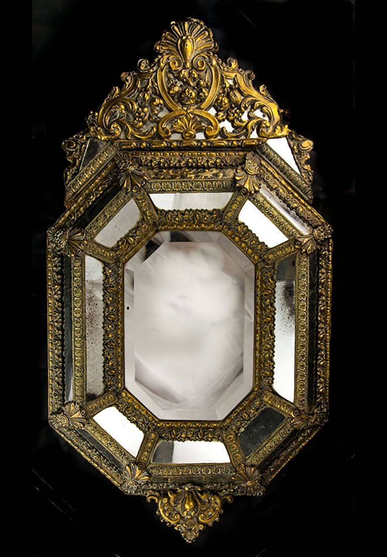 Pressed Brass Mirror