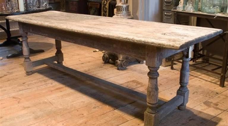 Weathered oak table