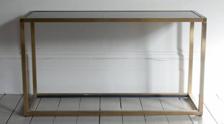 Console table smoked glass top