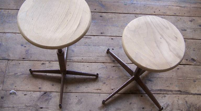 6 industrial stools