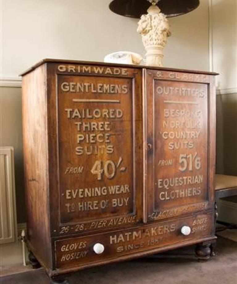 Gentlemen`s outfitter`s cupboard