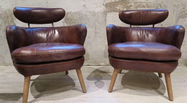 Pair Italian chairs c.1960
