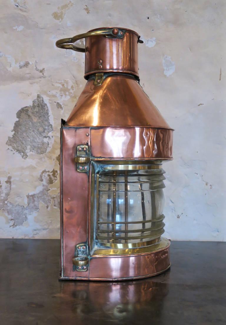 Large copper light