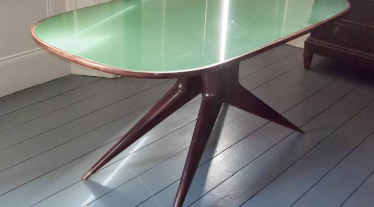 Italian glass topped table