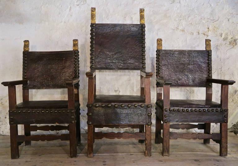 3 17th century Carvers, Italy