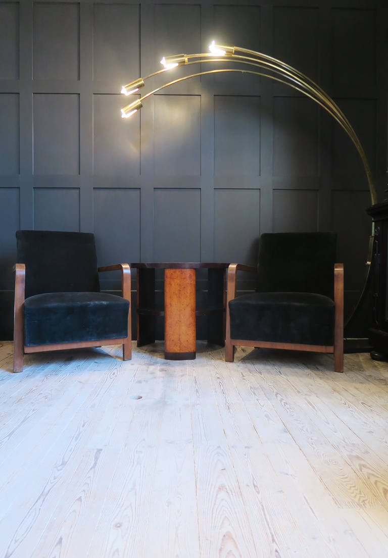 Pair of Italian deco armchairs