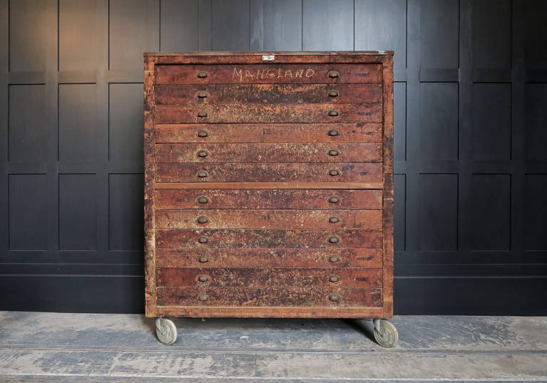 Baker drawers, circa 1900
