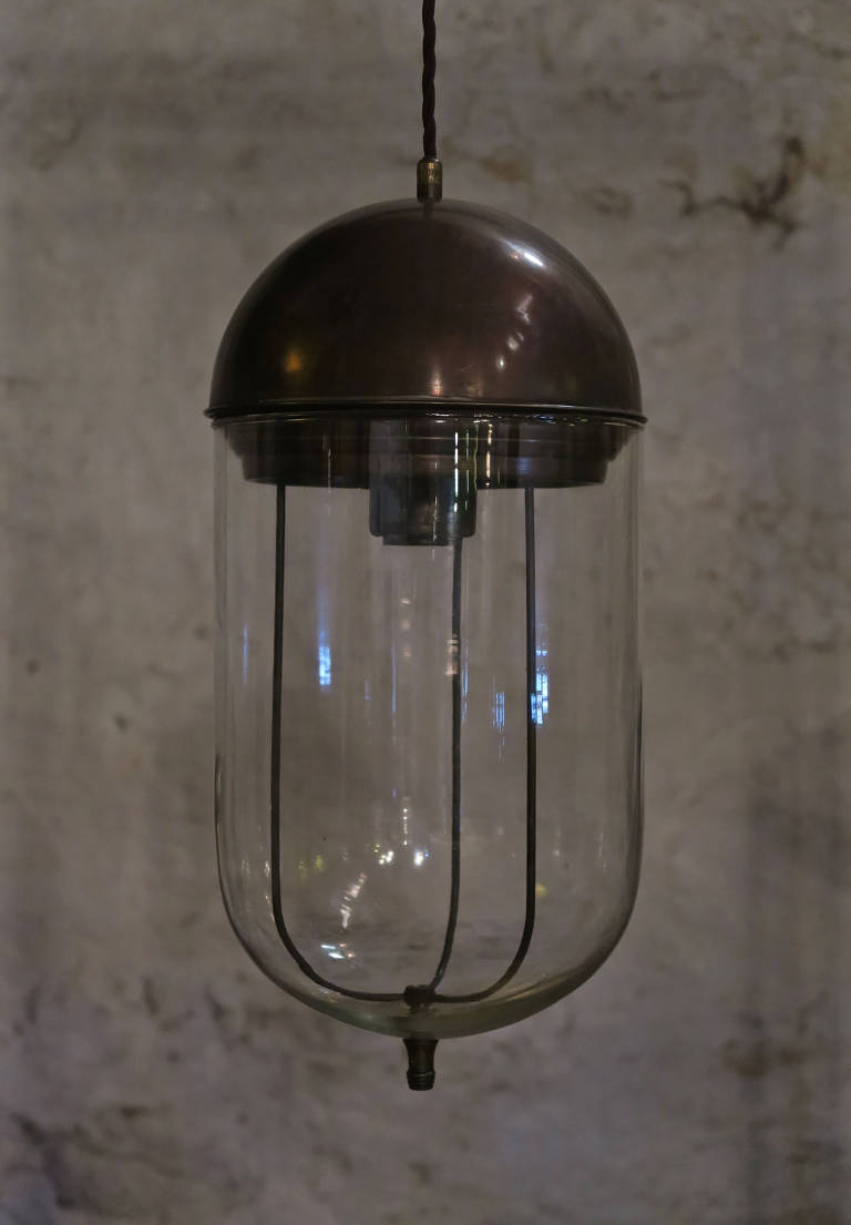 Brass & Glass Pendant Light