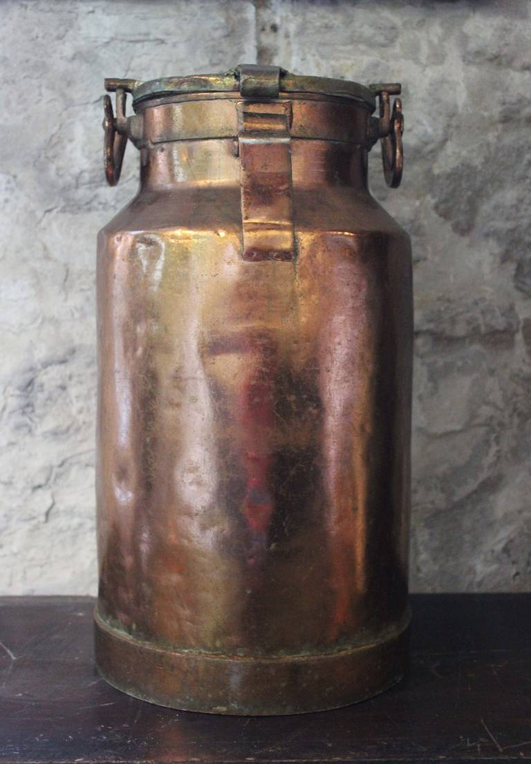Copper Milk Churn