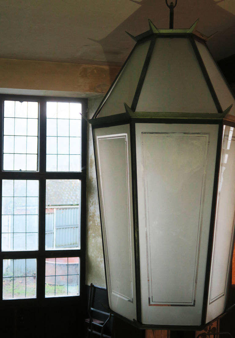 Vast Pair of Deco Lanterns
