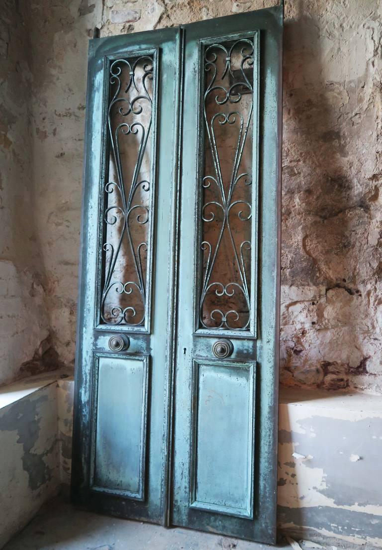 Pair of 19th century Bronze Doors, France