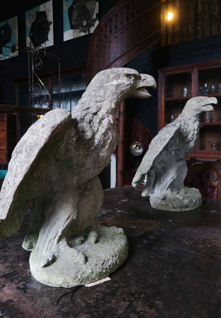 Pair of Stone Eagles c1900