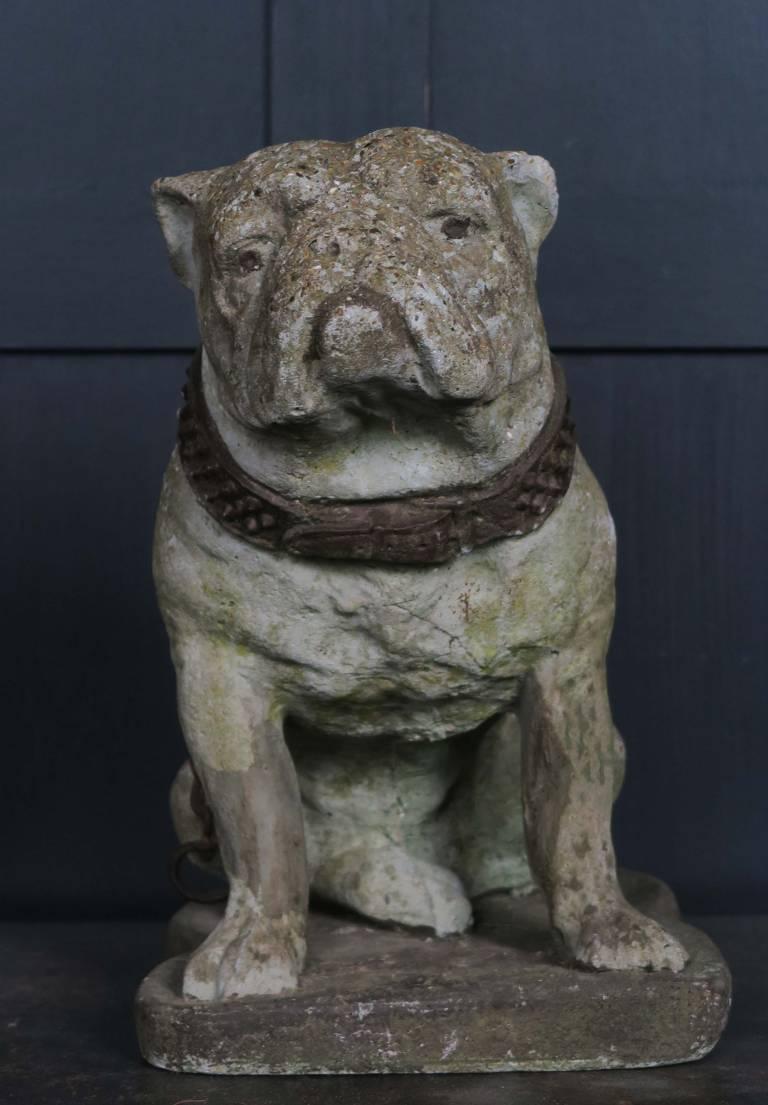 Mid Century Stone Bulldog