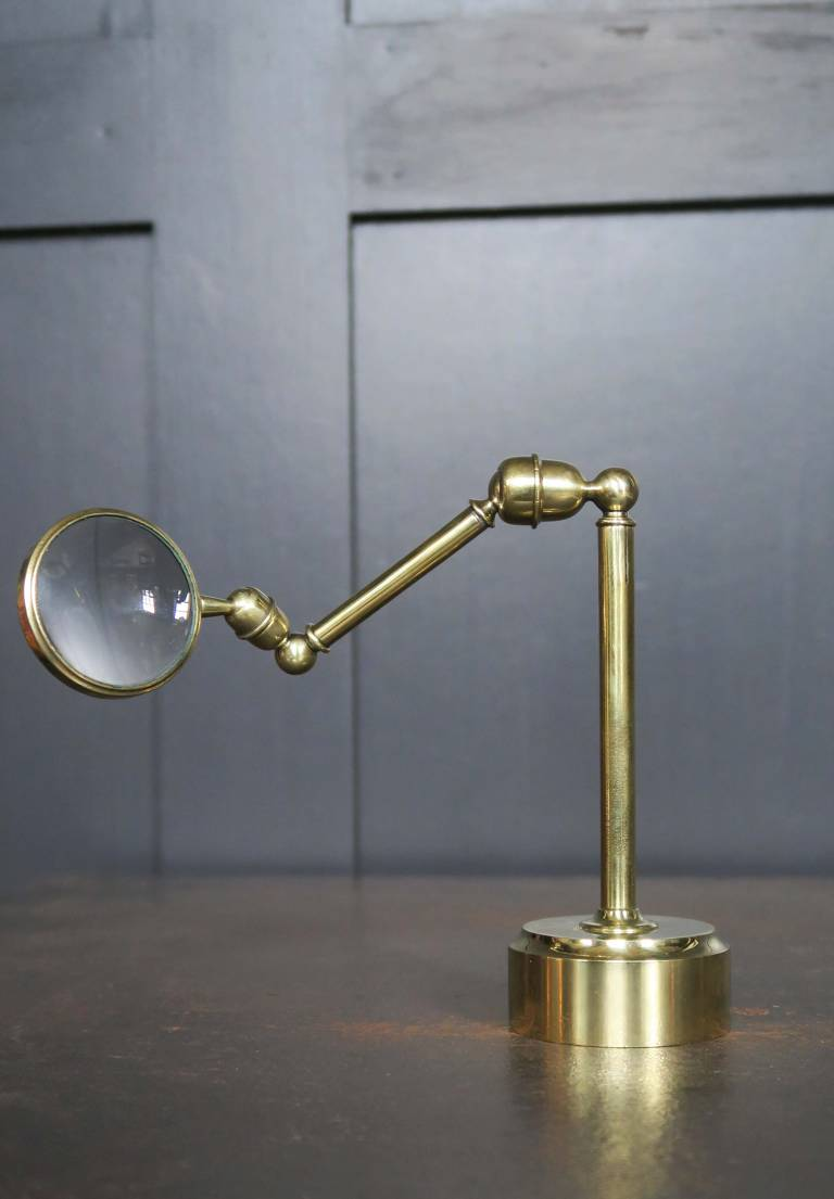 19th Century brass bull's eye magnifier