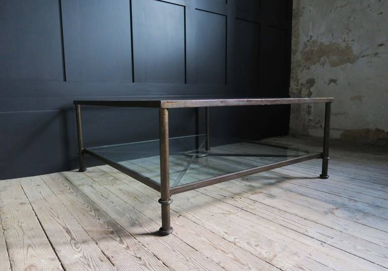 Mid Century Bronzed Coffee Table, Spain